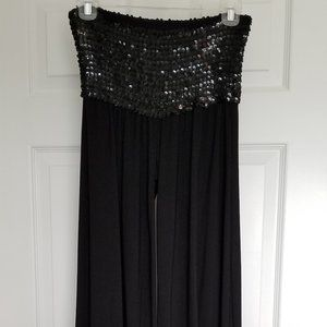 Wet Seal Sequined Palazzo Pants